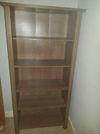 Solid walnut bookshelf