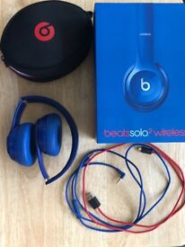 Beats by Dre Solo 2 wireless headphones blue