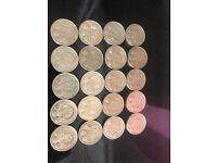 Edinburgh one pound coins X20