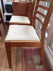 2 retro Teak dining room chairs great condition