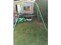 Childrens swing with child seat