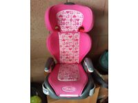 Graco Pink Hearts car seat 2-3