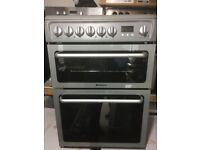 GREY HOTPOINT 60cm ELECTRIC COOKER, EXCELLENT CONDITION COMES WITH FOUR MONTHS WARRANTY