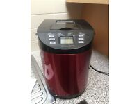 Andrew James breadmaker, red. Excellent condition. Used less than 5 times.
