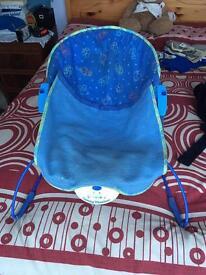Blue bouncy chair