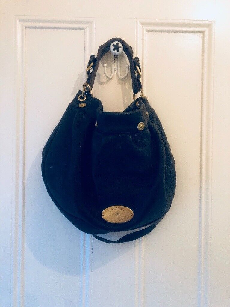 347993c175 Mulberry Bag - Black/Brown Strap can be worn on shoulder or across body