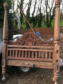Indonesian carved daybed for restoration