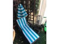 Childs wooden sun lounger set