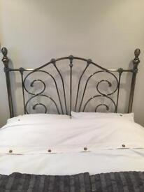 Metal head board double bed