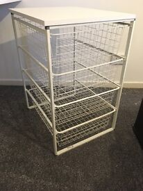 2 x Ikea Antonius Storage Frames & wire baskets