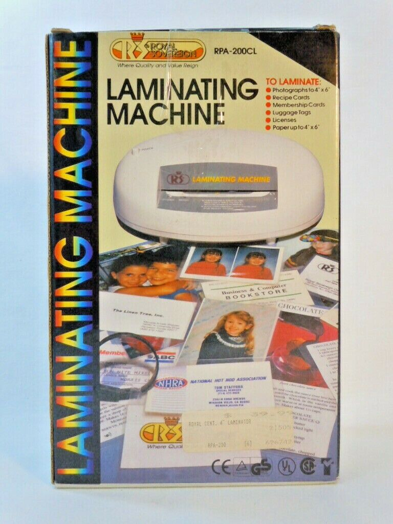 Royal Sovereign Laminating Machine RPA-200CL sheets pouches