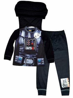 Boys New Star Wars Darth Vader Dress Up Novelty Costume Pyjama Pj Age 2-8 Years