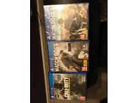 PlayStation 4 games. Call Of Duty Infinite Warfare, Watch Dogs 1 & 2