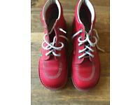 Red leather kickers 7