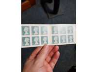1st Class Stamps x 12 Booklet