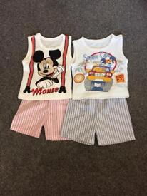 Boys shorts and top size 1 year