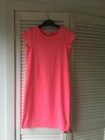 Neon pink dress - size 8
