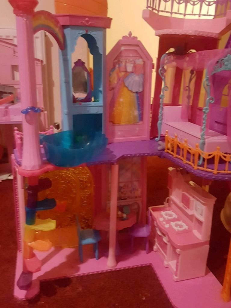 Barbie house big and nice.