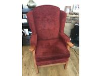 Beautiful Wing-Backed Arm Chair