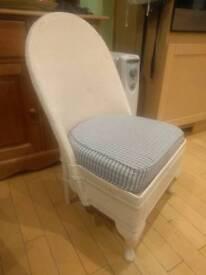 Lloyd loom style chair check seat