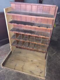Antique mahagony bookcase/shelving
