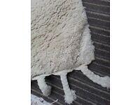Large rug, pure wool, cream/white, 250x375cm