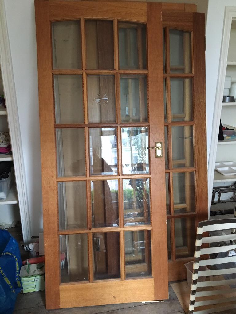 Wooden Glass Interior Doors X3 In Southside Glasgow Gumtree