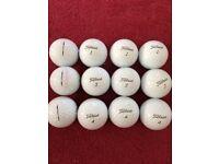 Titlest PRO V1 and V1x balls