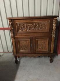 Antique hand carved unit