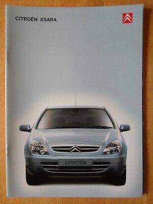 CITROEN Xsara range 2000 2001 UK Market sales prestige brochure