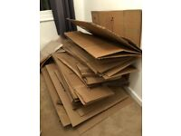 Free cardboard boxes and paper (used)