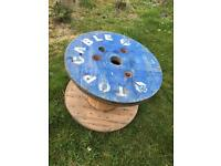 Cable drum garden furniture