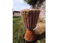 Djembe handcarved large African drum