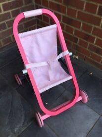 Janod pink pushchair