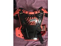 Kids/ child's body armour/ protector for scrambler/ quad and gloves