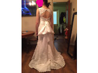 Designed wedding dress size 10