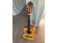 Herald HL34 3/4 Guitar, Acoustic, John Hornby, Junior Size.