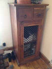 solid wood old cupboard