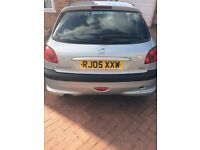 Peugeot 206 2005 Low Mileage, for spares or repair, (Whole vehicle only)