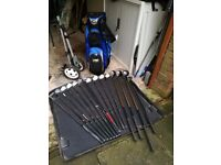 Golf Clubs with golf bag and cover