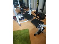 York b540 bench + 100kg in weights and bars