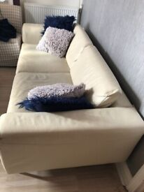 3-seater ILVA genuine leather sofa for sale