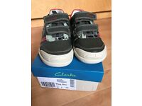 Boys New Clarks Shoes size UK 10F Eur28 (with box)