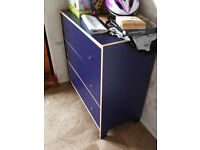 Blue Ikea chest of drawers ***GONE PENDING PICKUP***