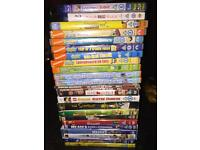 Large lot of kids DVDs & 2 x blu ray