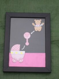 Baby Girl Montage in a Glazed Frame for £2.00