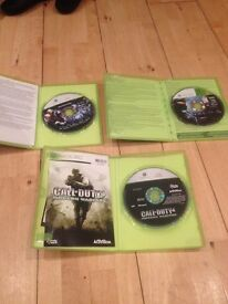2nd hand Halo 3 & 4 , Call of Duty 4.