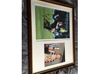 Signed Paul Gascoigne photos
