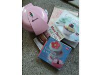 Cupcake maker and 4 baking books