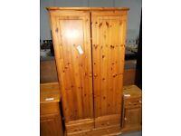 Pine Wardrobe with Drawers 30122 J